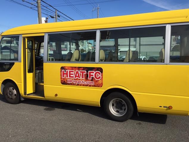 HEATバスのステッカーが出来ました